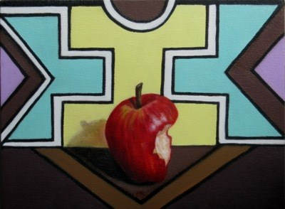 """Ndebele and Apple I"" original fine art by Pera Schillings"