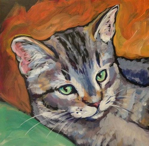 """""""March 11, Miette"""" original fine art by Kat Corrigan"""