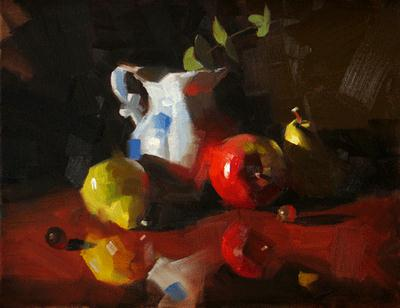 """""""On a Glossy Surface"""" original fine art by Qiang Huang"""