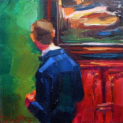 """""""Besuch beim Rembrandt 3"""" original fine art by Jurij Frey"""