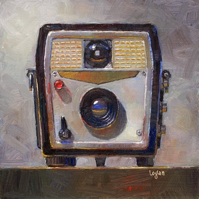 """Ansco Cadet Camera"" original fine art by Raymond Logan"