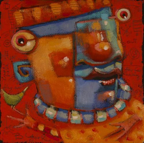 """Lovebirds"" original fine art by Brenda York"
