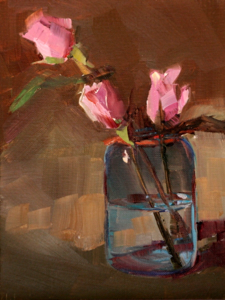 """""""leaning to the left"""" original fine art by Carol Carmichael"""