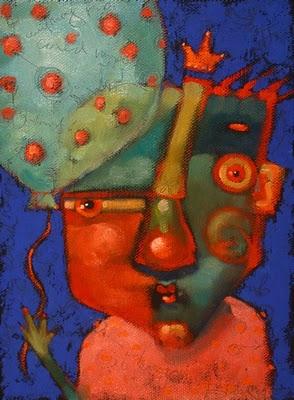 """Cedric Suffers From Balloonophobia"" original fine art by Brenda York"