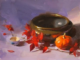 """""""Autumn Colors --- Sold"""" original fine art by Qiang Huang"""