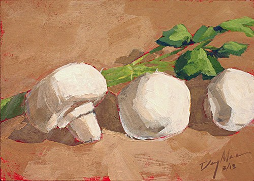 """Mushrooms"" original fine art by Mike Daymon"