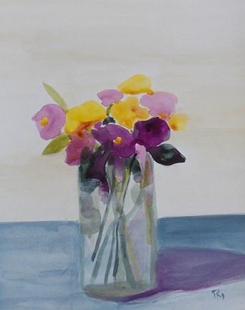 """tender blooms II"" original fine art by Pamela Munger"
