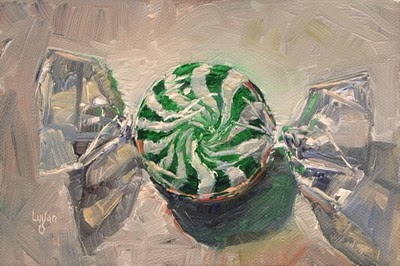 """Wintergreen Candy"" original fine art by Raymond Logan"