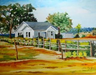 """""""The last Farm in Texas"""" original fine art by JoAnne Perez Robinson"""