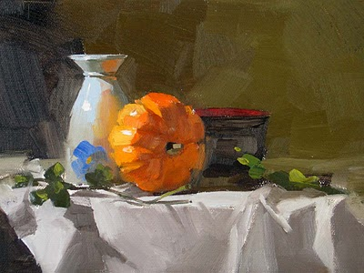 """""""Autumn Started --- Sold"""" original fine art by Qiang Huang"""