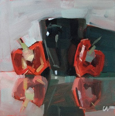 """2 Bells and a Cup --- SOLD"" original fine art by Carol Marine"