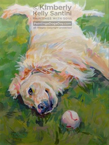 """Seventh Inning Stretch"" original fine art by Kimberly Santini"