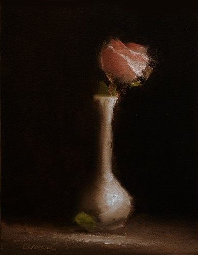 """Bud Vase Rose"" original fine art by Neil Carroll"