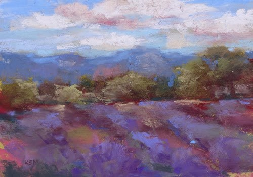 """""""Dragonflies and Lavender....Our Day in Albuquerque"""" original fine art by Karen Margulis"""