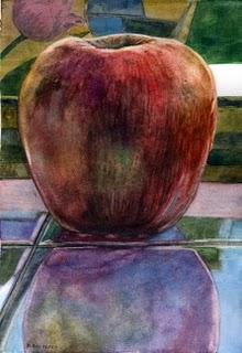"""""""Watercolor: Jonagold"""" original fine art by Belinda Del Pesco"""