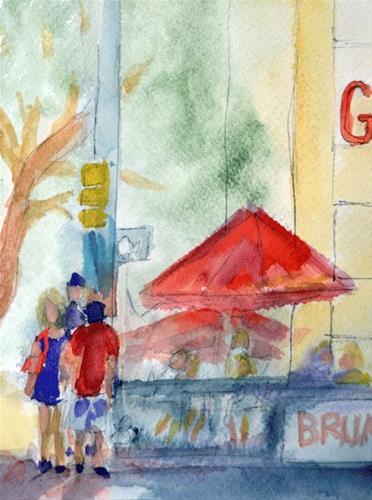 """Sunday Brunch 2"" original fine art by Donna Crosby"