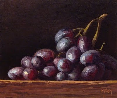 """""""Grapes in Afternoon Sun"""" original fine art by Abbey Ryan"""