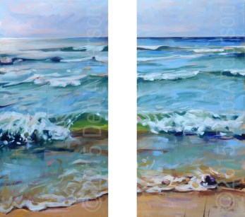 """Light Shift, Lake Michigan"" original fine art by Deb Anderson"