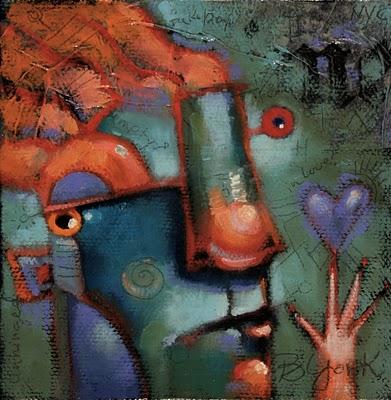 """Batteries Not Included"" original fine art by Brenda York"