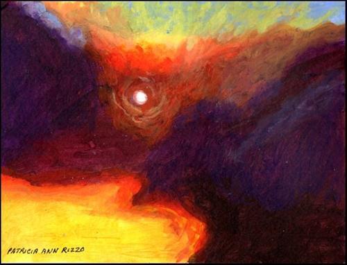 """""""Blazing Sky"""" original fine art by Patricia Ann Rizzo"""
