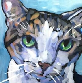 """Big Eyes, Big Heart"" original fine art by Kat Corrigan"