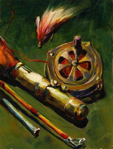 """""""ELMERS RIG"""" original fine art by Brian Cameron"""