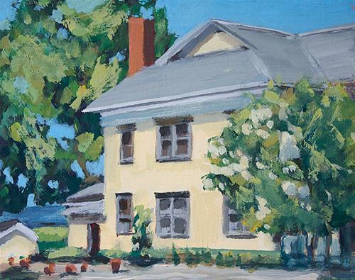 """Wine Country Victorian"" original fine art by J. Farnsworth"