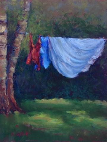 """Hanging Out In Door County"" original fine art by Cindy Gillett"