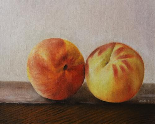 """Peaches"" original fine art by Jonathan Aller"