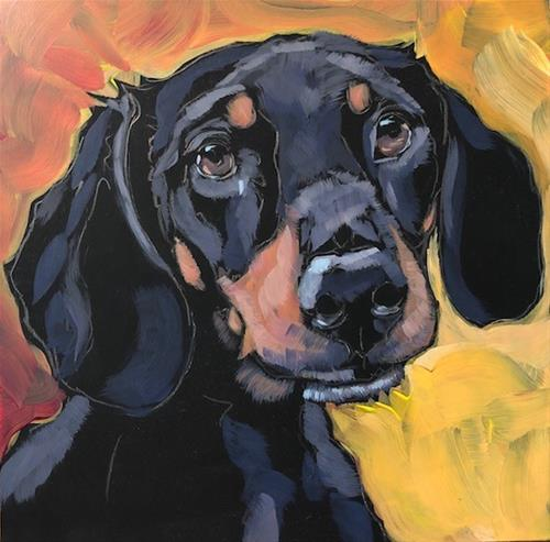 """July 31, The Last Dog"" original fine art by Kat Corrigan"