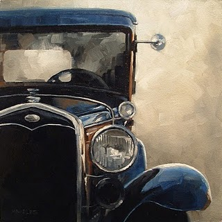 """Antique Auto"" original fine art by Michael Naples"
