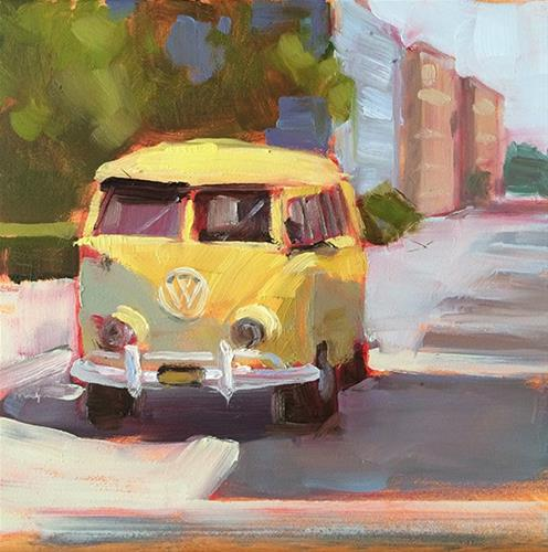 """""""Mellow Yellow"""" original fine art by Deborah Newman"""