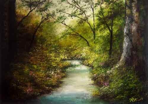 """Secret River"" original fine art by Bob Kimball"