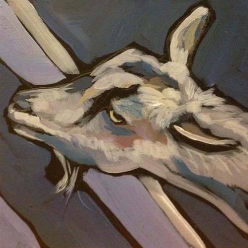 """Fuzzy Head"" original fine art by Kat Corrigan"