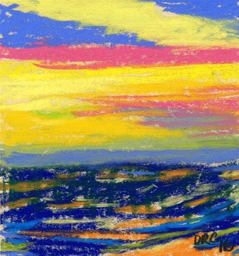 """Sun Kissed Surf"" original fine art by Donna Crosby"