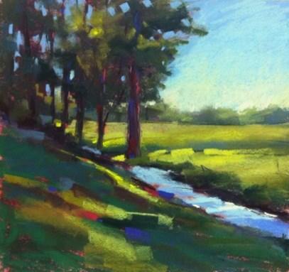 """Lake Toxaway Workshop Report"" original fine art by Karen Margulis"