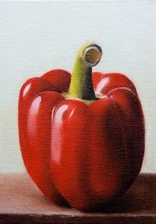 """Red Pepper"" original fine art by Jonathan Aller"