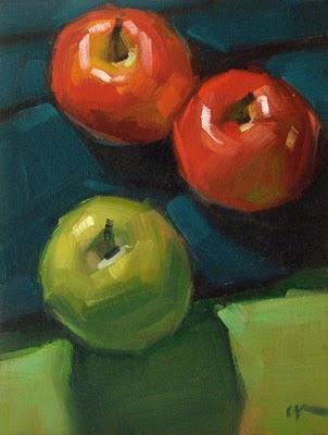 """Apple Journey"" original fine art by Carol Marine"
