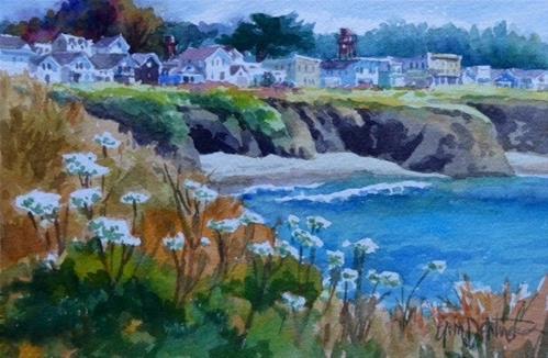 """""""West Cliff Panorama"""" original fine art by Erin Dertner"""