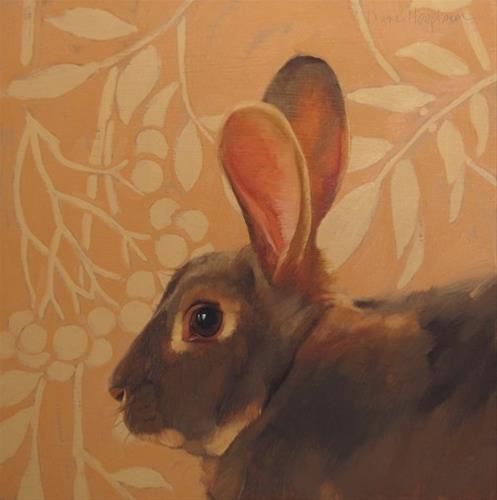 """""""The Hare"""" original fine art by Diane Hoeptner"""