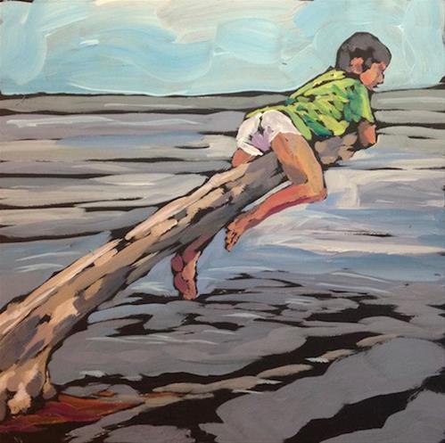 """Lake Perch"" original fine art by Kat Corrigan"