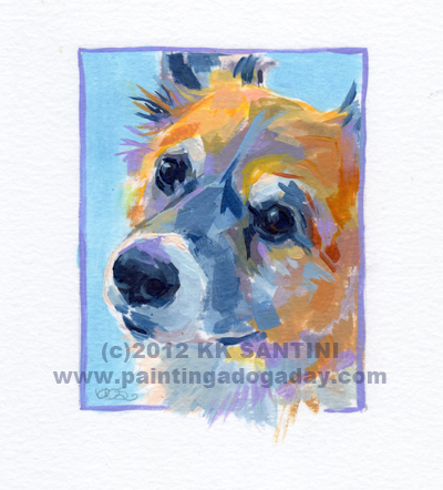 """""""Shadow, A Painted Sketch"""" original fine art by Kimberly Santini"""