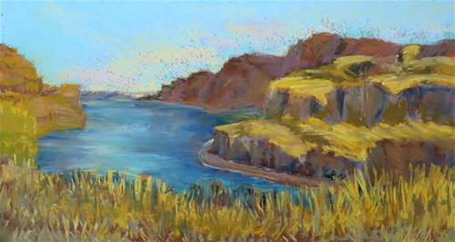 """""""Columbia River"""" original fine art by Mary Weil"""