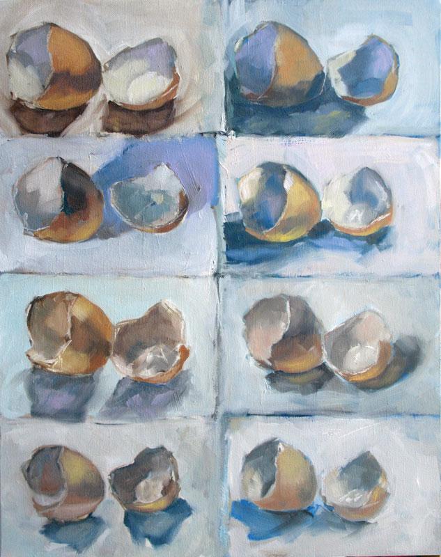 """8 Egg Studies"" original fine art by Clair Hartmann"