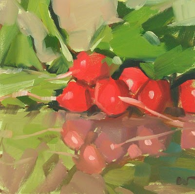 """Radish Landscape --- SOLD"" original fine art by Carol Marine"