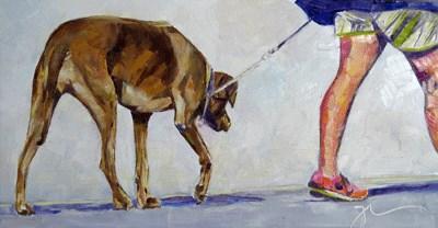 """Walking Mimi"" original fine art by Gigi ."