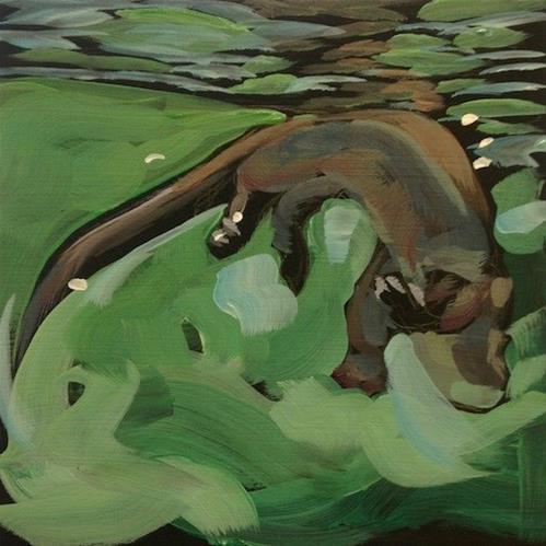 """""""Otter Drift"""" original fine art by Kat Corrigan"""