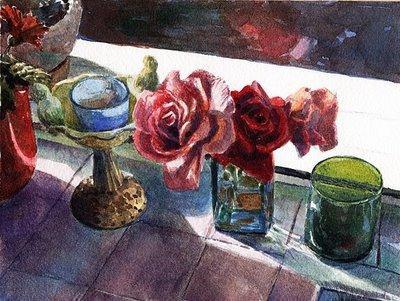 """""""Watercolor: Three Tenors"""" original fine art by Belinda Del Pesco"""