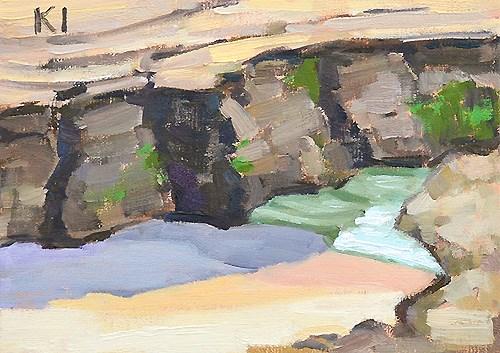 """""""Windansea Beach"""" original fine art by Kevin Inman"""