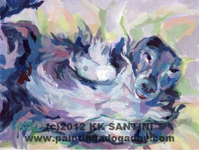 """The Perfect Nap"" original fine art by Kimberly Santini"